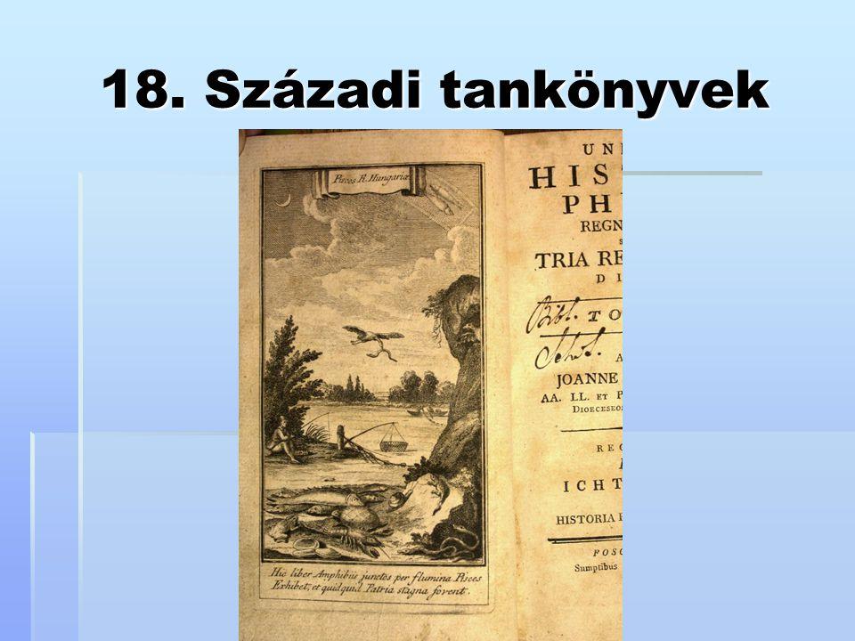 18. Századi tankönyvek
