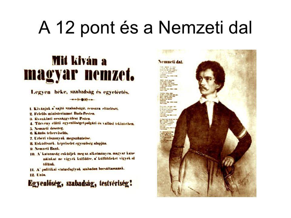 A 12 pont és a Nemzeti dal