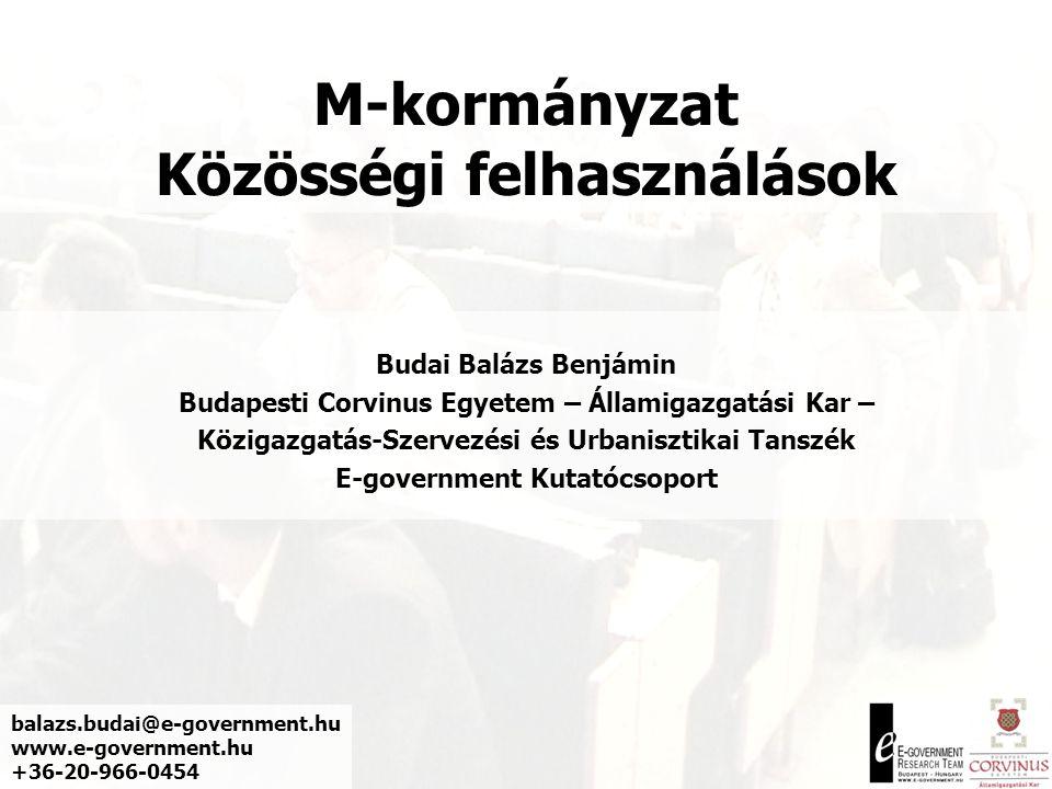 M-kormányzat Közösségi felhasználások