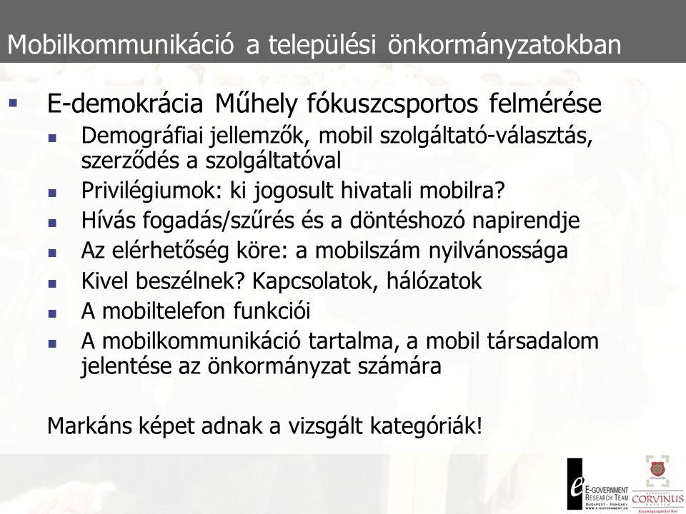 Mobilkommunikáció a települési önkormányzatokban