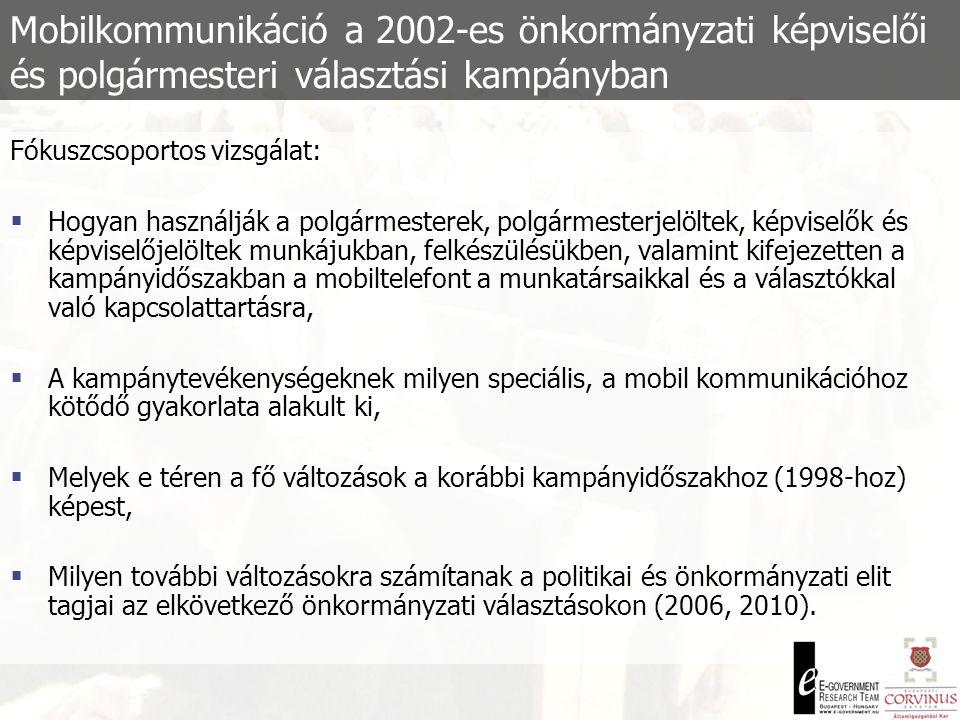 Mobilkommunikáció a 2002-es önkormányzati képviselői és polgármesteri választási kampányban