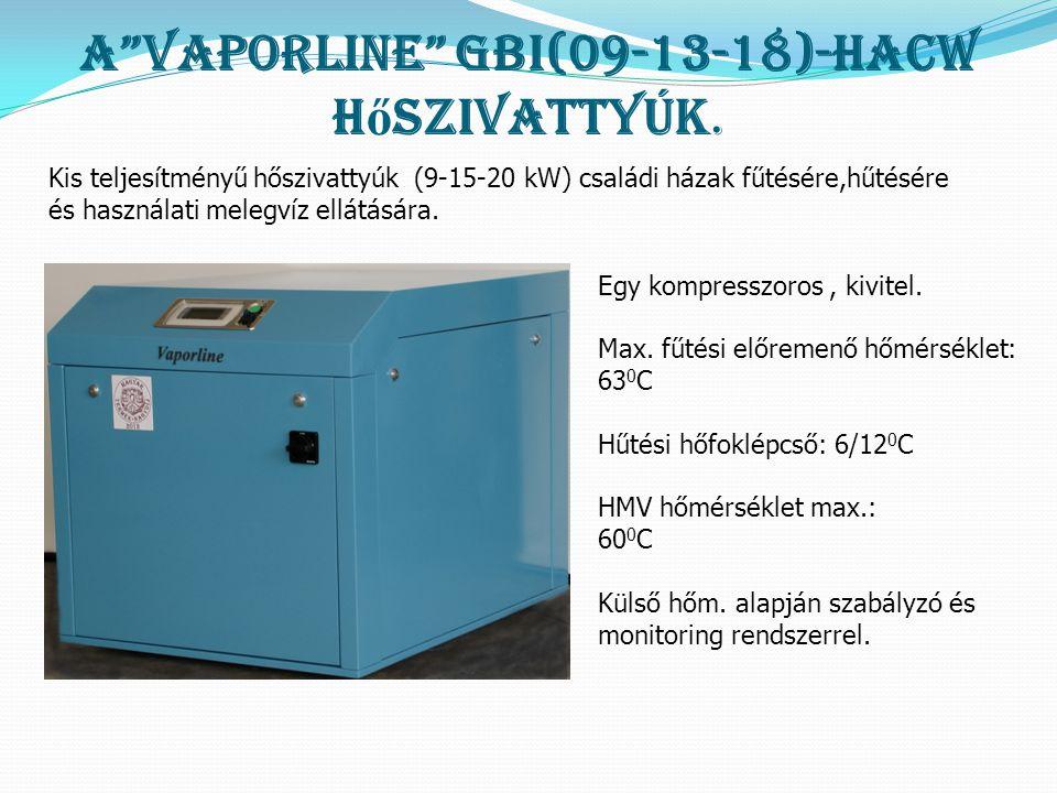 A Vaporline GBI(09-13-18)-HACW hőszivattyúk.