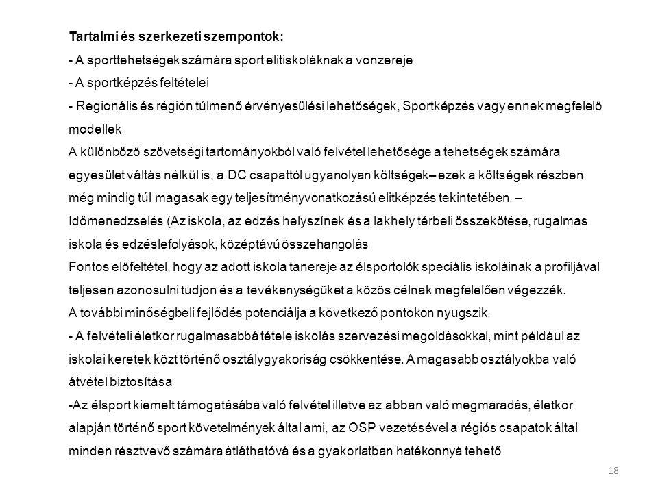 Tartalmi és szerkezeti szempontok:
