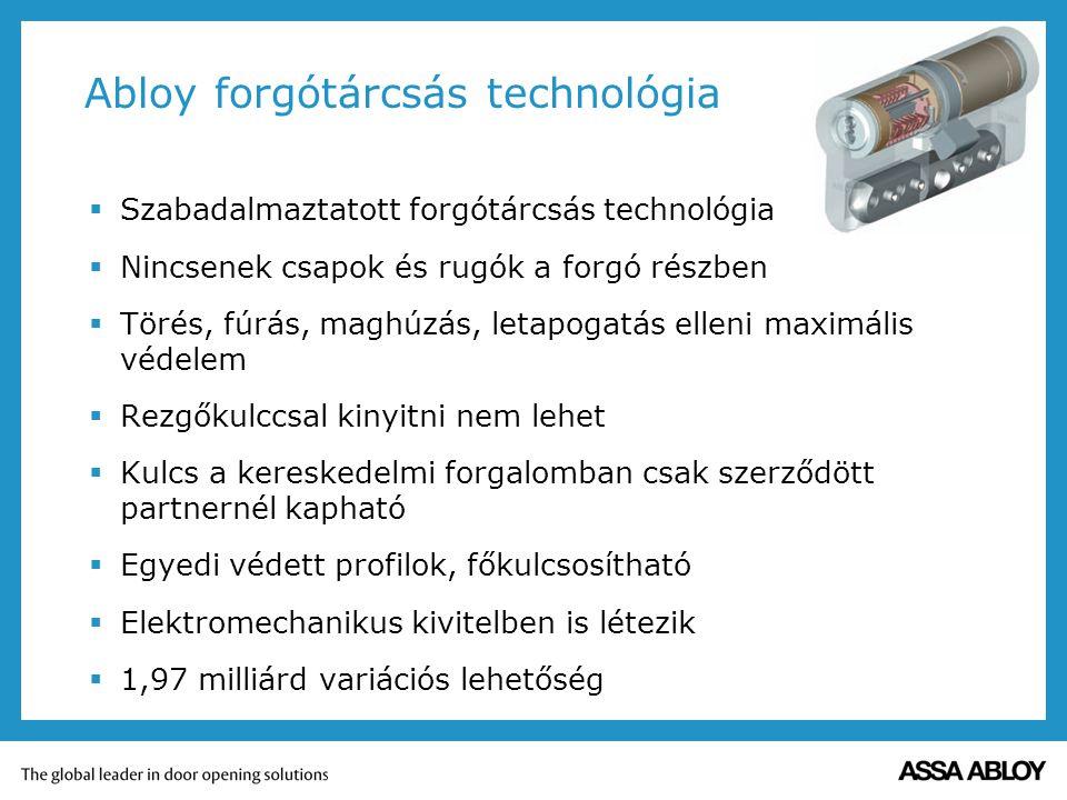Abloy forgótárcsás technológia