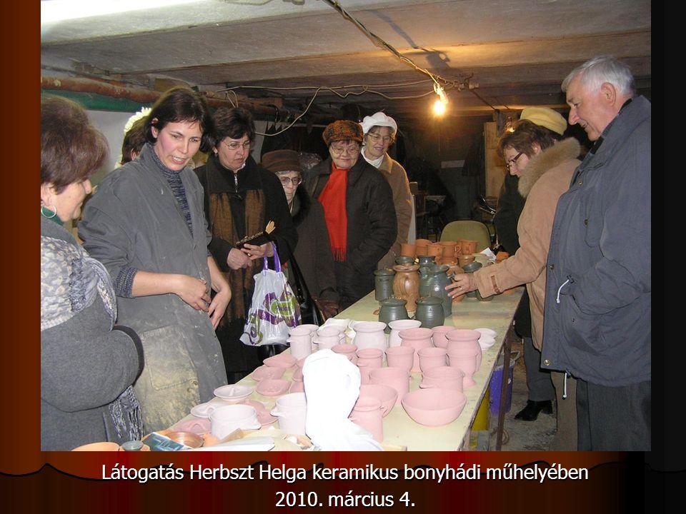 Látogatás Herbszt Helga keramikus bonyhádi műhelyében