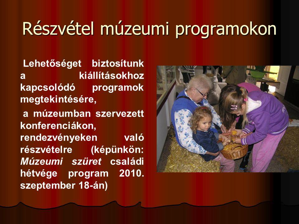 Részvétel múzeumi programokon