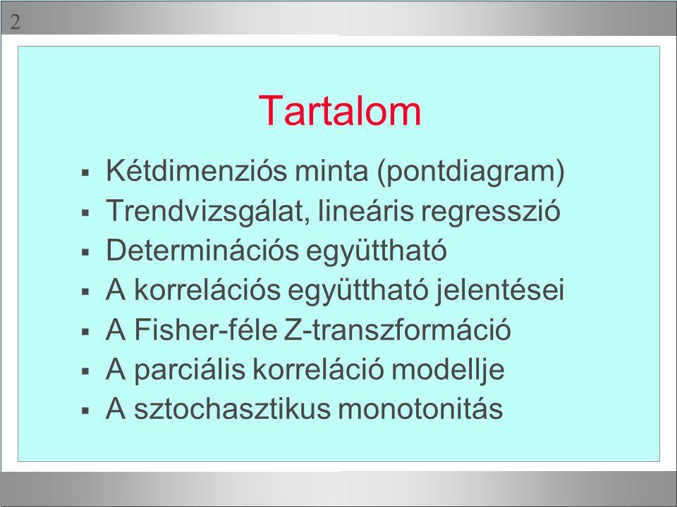 Tartalom Kétdimenziós minta (pontdiagram)