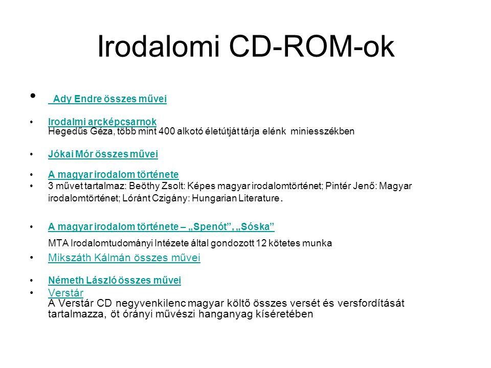 Irodalomi CD-ROM-ok Ady Endre összes művei