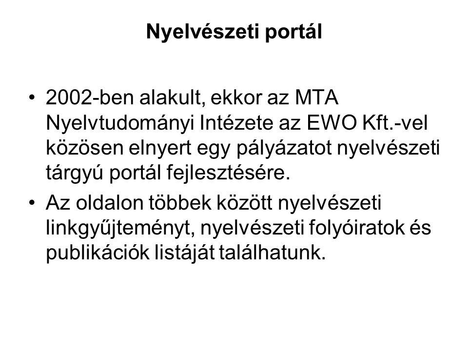 Nyelvészeti portál