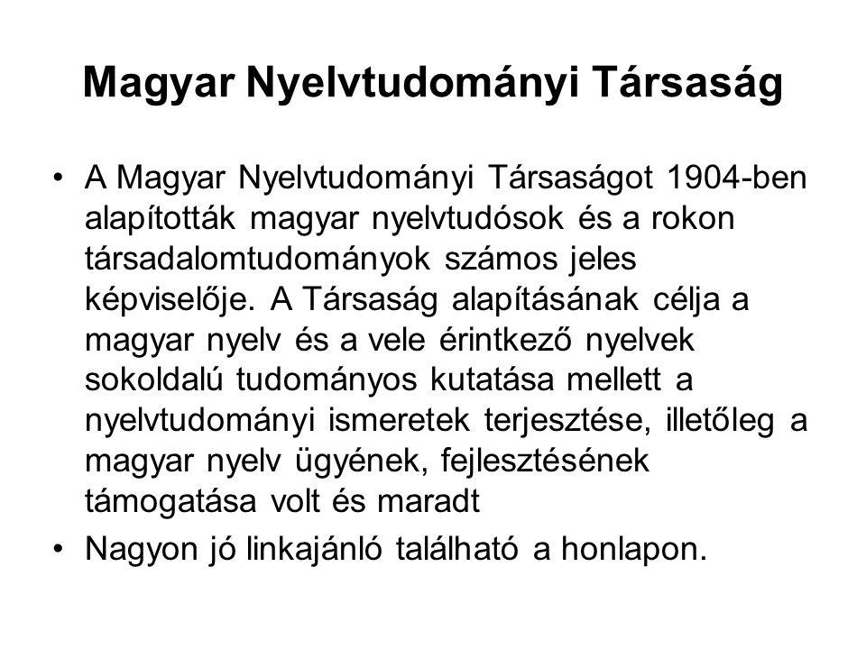 Magyar Nyelvtudományi Társaság