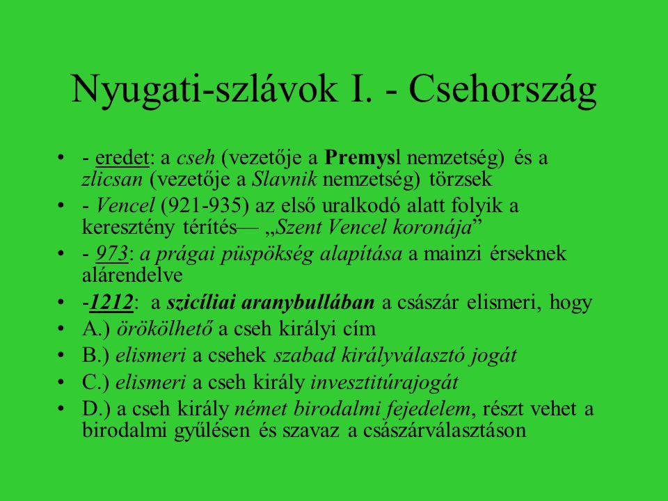 Nyugati-szlávok I. - Csehország
