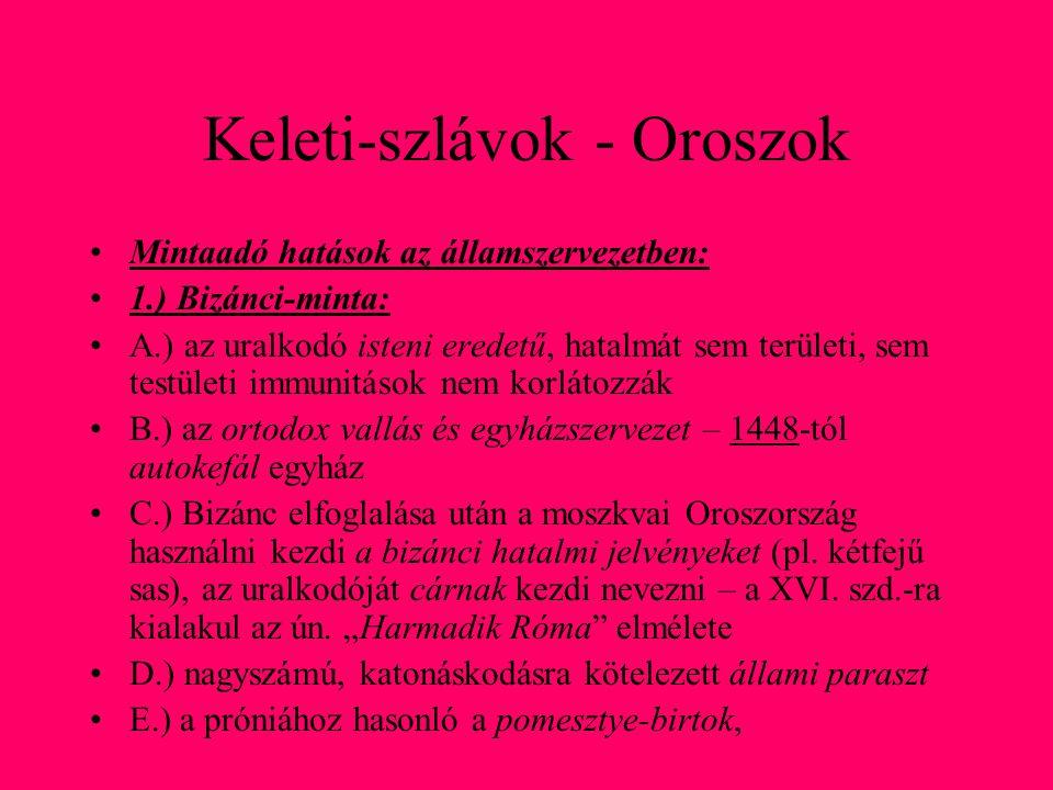 Keleti-szlávok - Oroszok