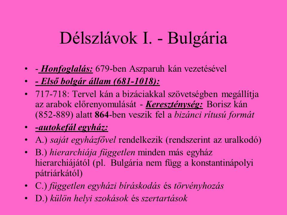 Délszlávok I. - Bulgária
