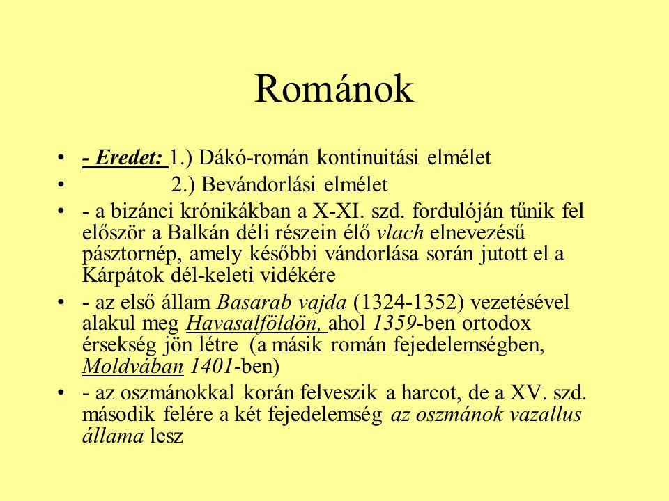 Románok - Eredet: 1.) Dákó-román kontinuitási elmélet