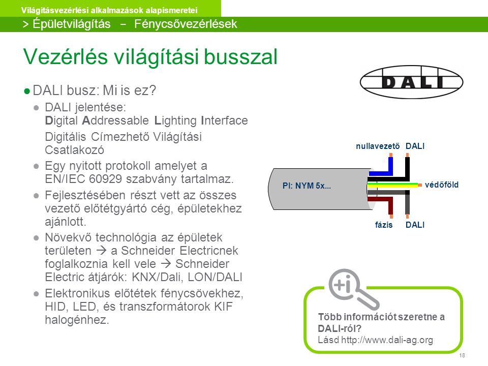 Vezérlés világítási busszal