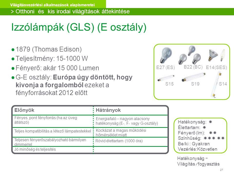 Izzólámpák (GLS) (E osztály)