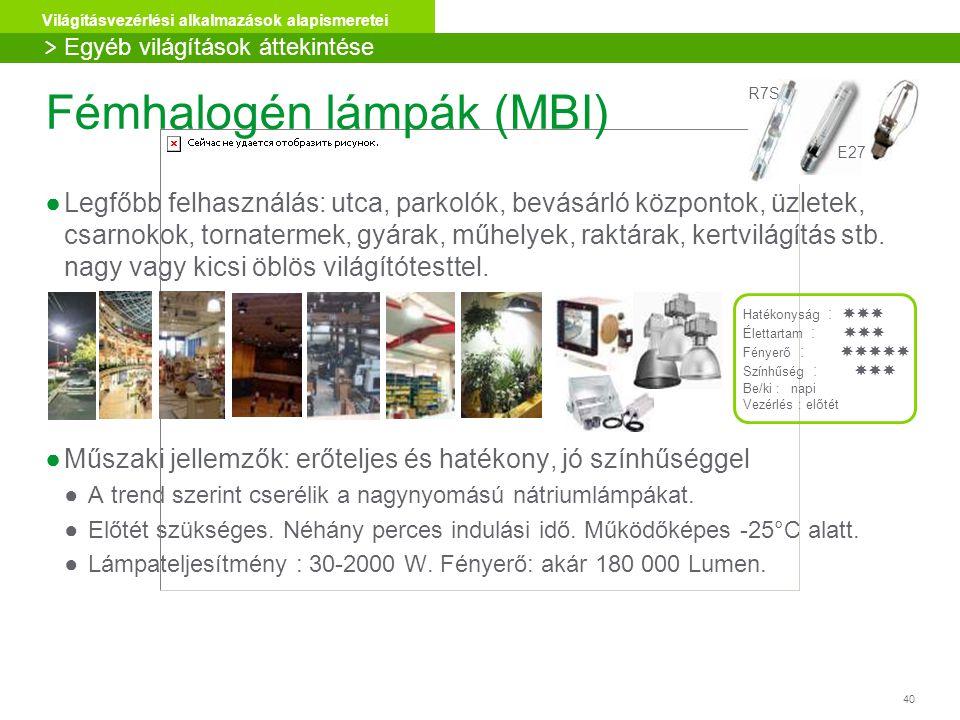 Fémhalogén lámpák (MBI)