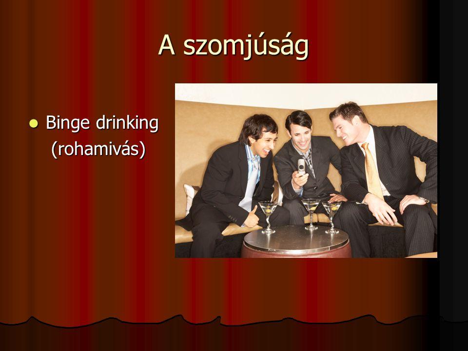A szomjúság Binge drinking (rohamivás)