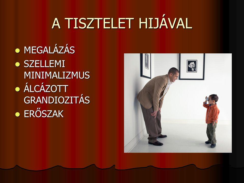 A TISZTELET HIJÁVAL MEGALÁZÁS SZELLEMI MINIMALIZMUS