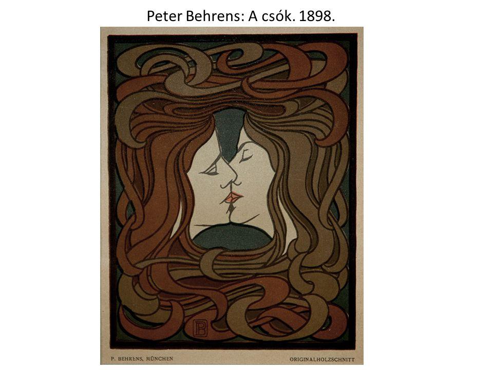 Peter Behrens: A csók. 1898.