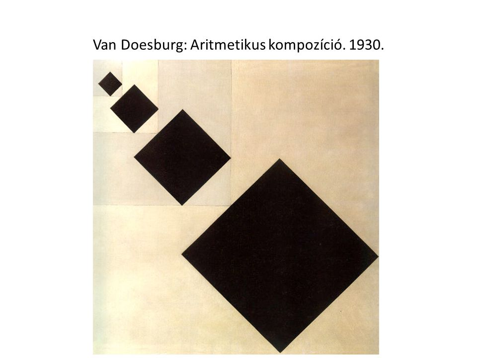 Van Doesburg: Aritmetikus kompozíció. 1930.