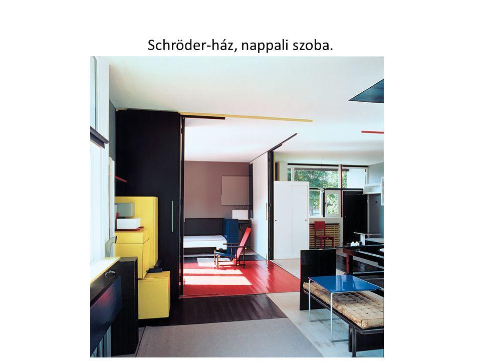 Schröder-ház, nappali szoba.