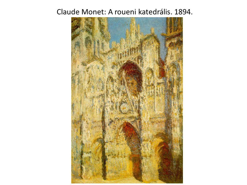 Claude Monet: A roueni katedrális. 1894.