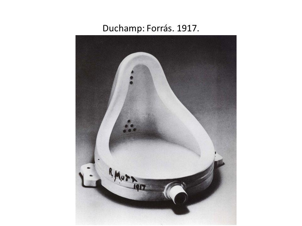 Duchamp: Forrás. 1917.