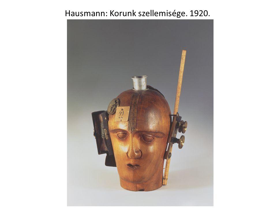 Hausmann: Korunk szellemisége. 1920.