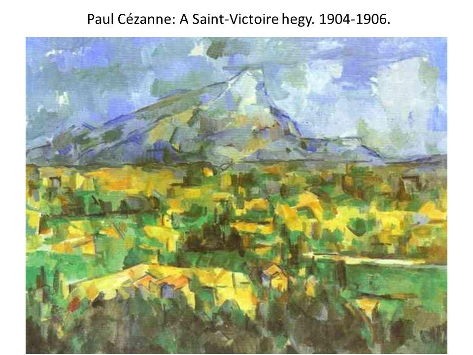 Paul Cézanne: A Saint-Victoire hegy. 1904-1906.