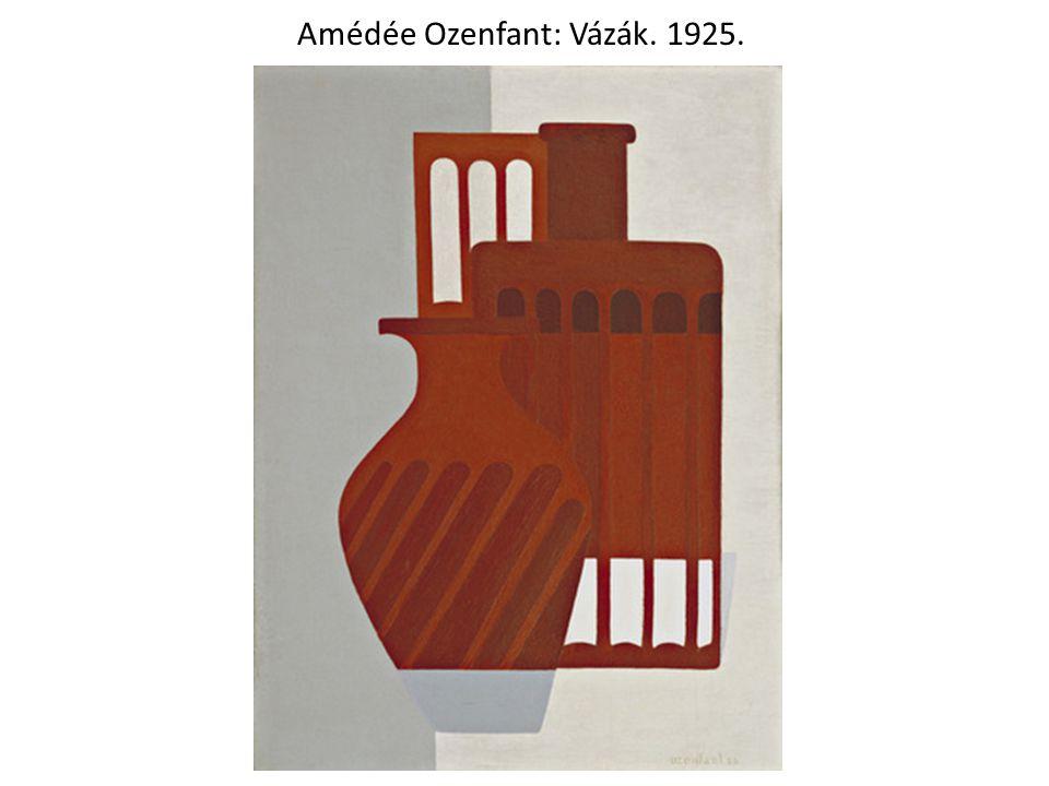 Amédée Ozenfant: Vázák. 1925.