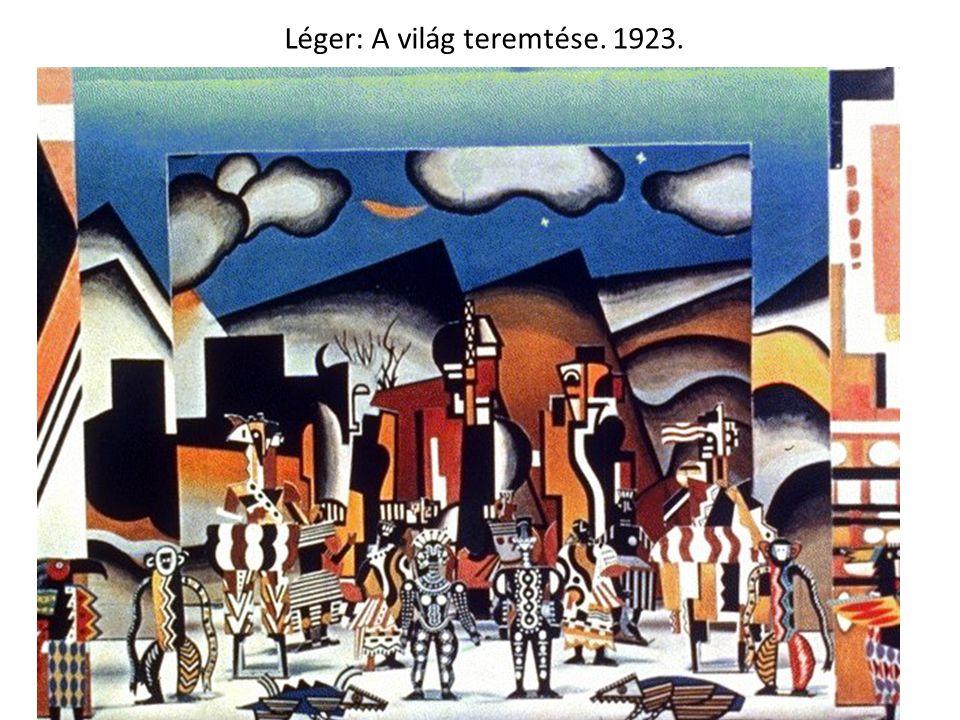 Léger: A világ teremtése. 1923.