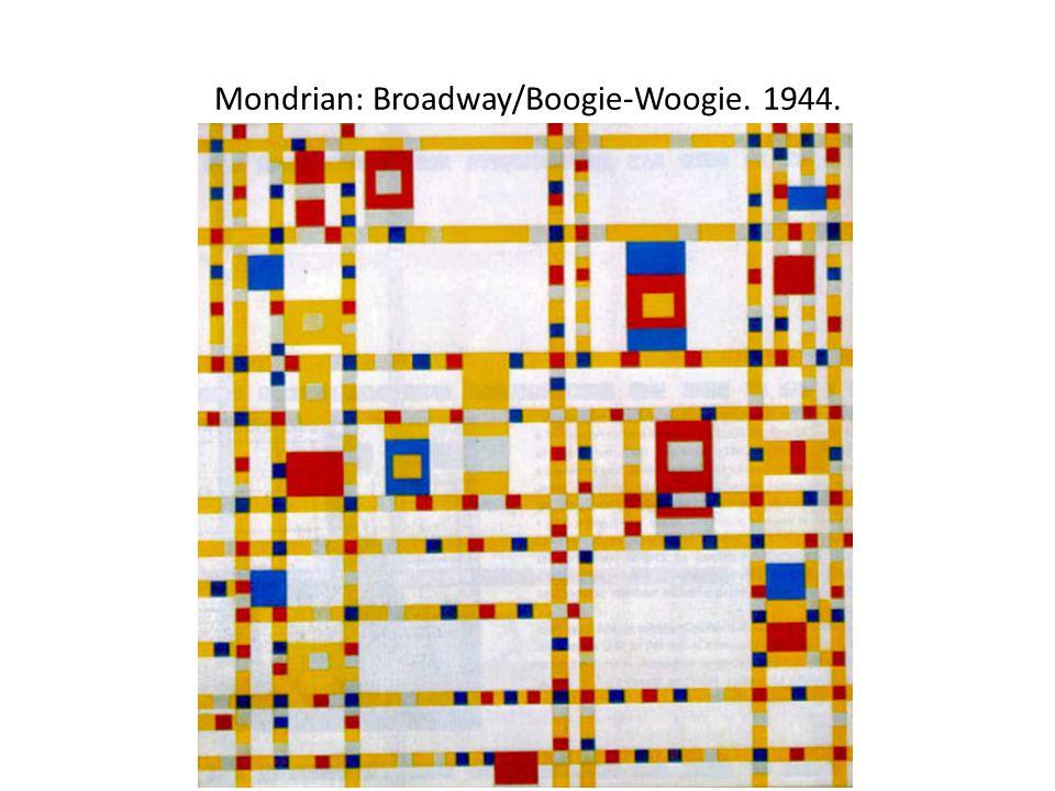 Mondrian: Broadway/Boogie-Woogie. 1944.