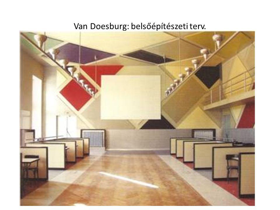 Van Doesburg: belsőépítészeti terv.