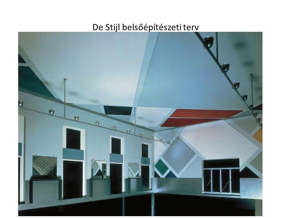 De Stijl belsőépítészeti terv