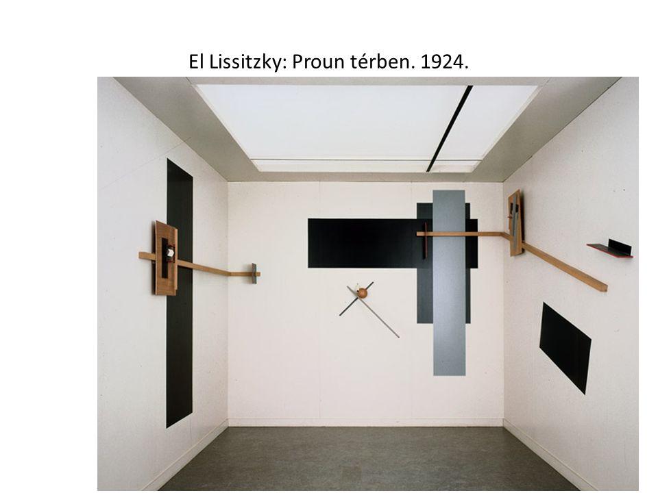 El Lissitzky: Proun térben. 1924.