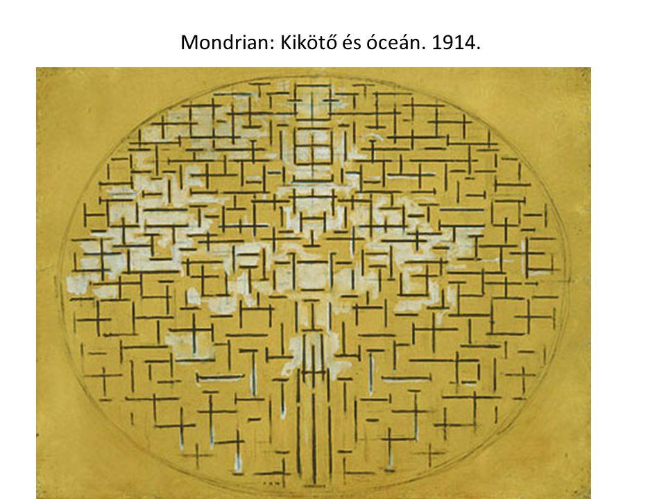 Mondrian: Kikötő és óceán. 1914.