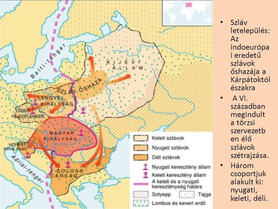 Szláv letelepülés: Az indoeurópai eredetű szlávok őshazája a Kárpátoktól északra