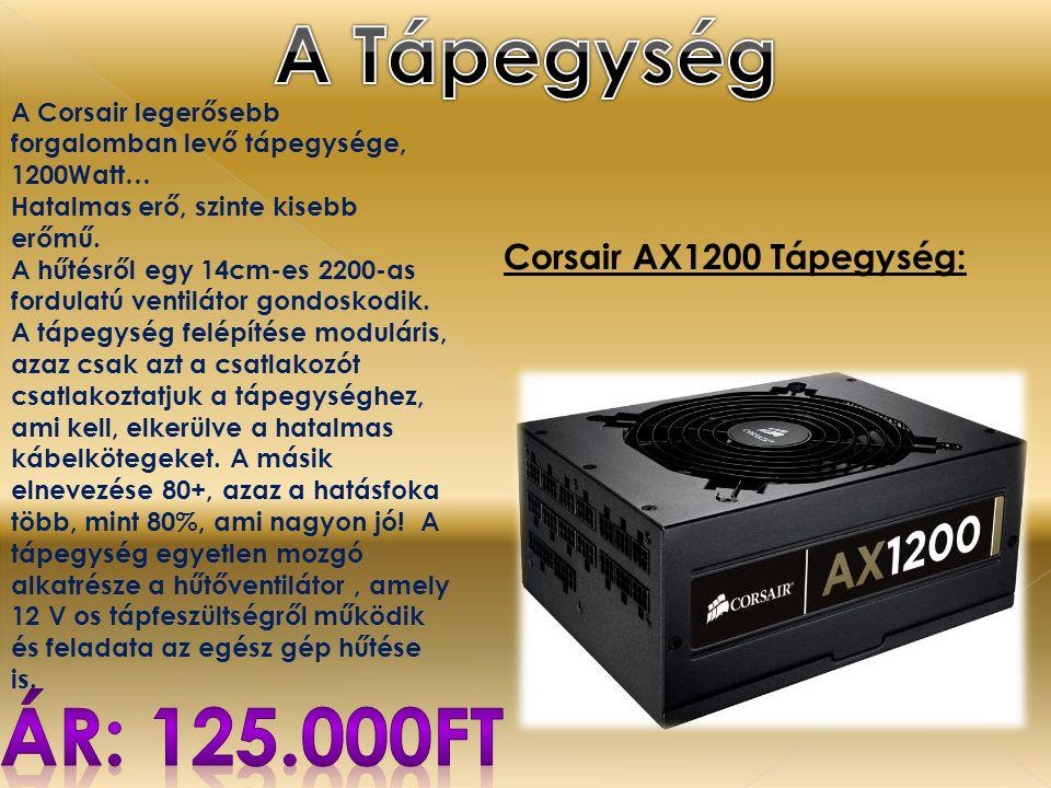 A Tápegység Ár: 125.000ft Corsair AX1200 Tápegység: