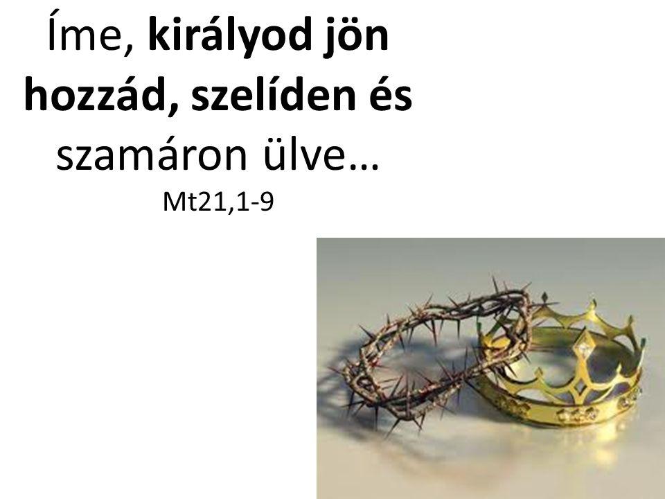 Íme, királyod jön hozzád, szelíden és szamáron ülve… Mt21,1-9