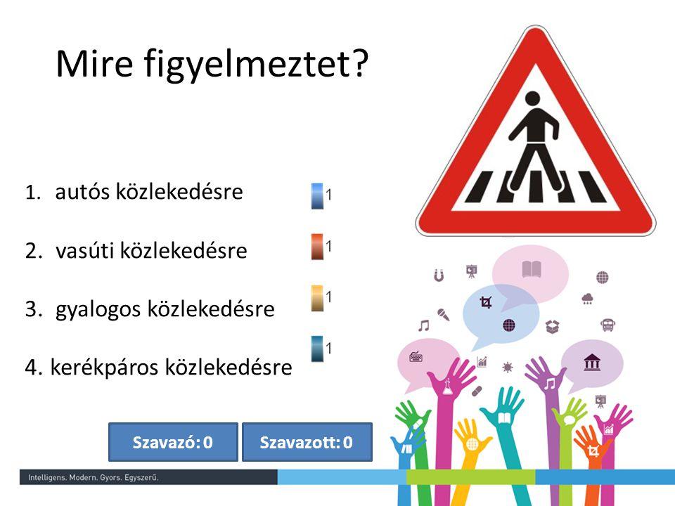 Mire figyelmeztet vasúti közlekedésre gyalogos közlekedésre