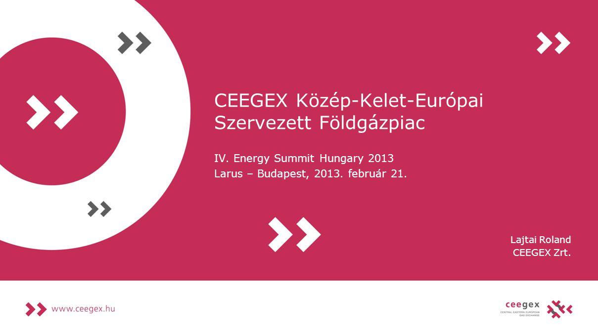CEEGEX Közép-Kelet-Európai Szervezett Földgázpiac