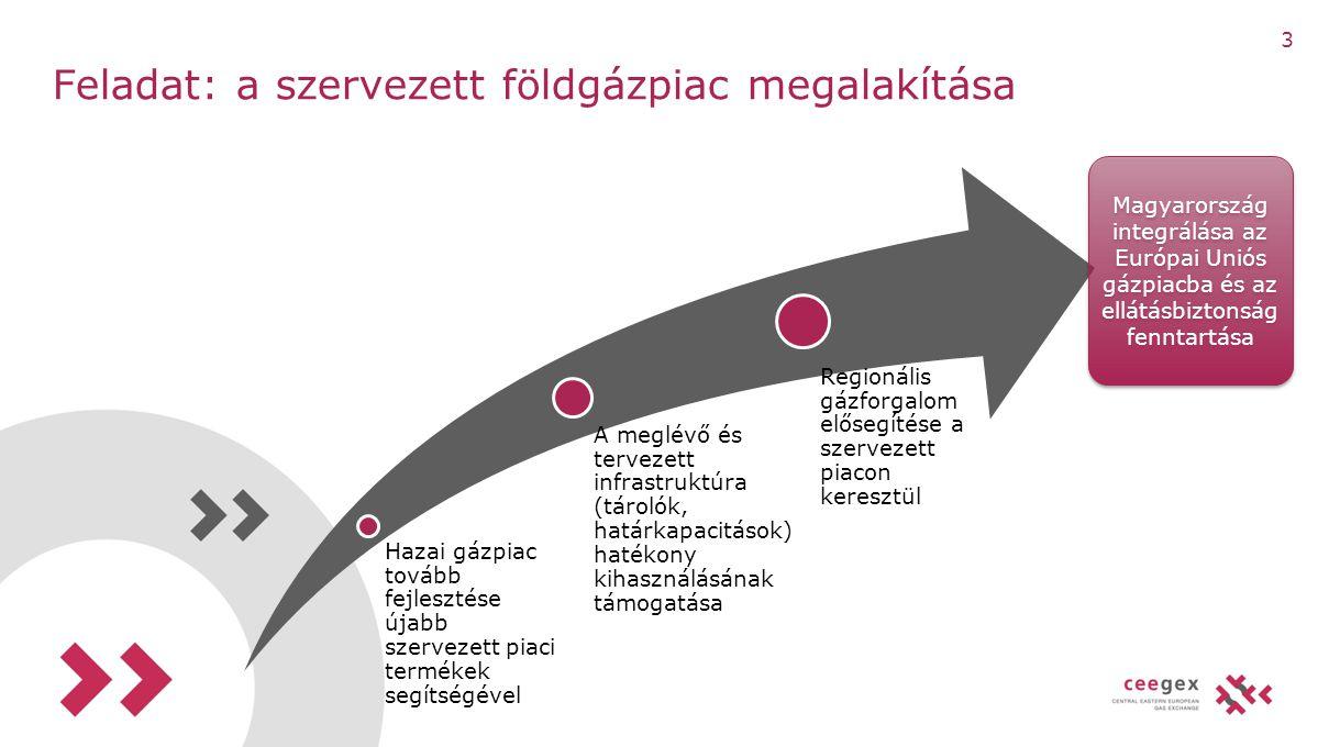 Feladat: a szervezett földgázpiac megalakítása