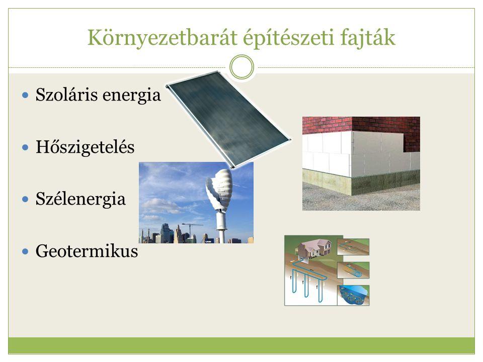 Környezetbarát építészeti fajták