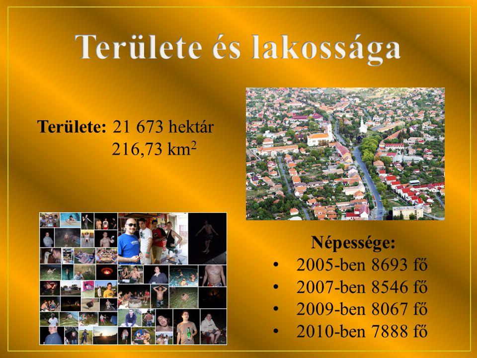 Területe és lakossága Területe: 21 673 hektár 216,73 km2 Népessége: