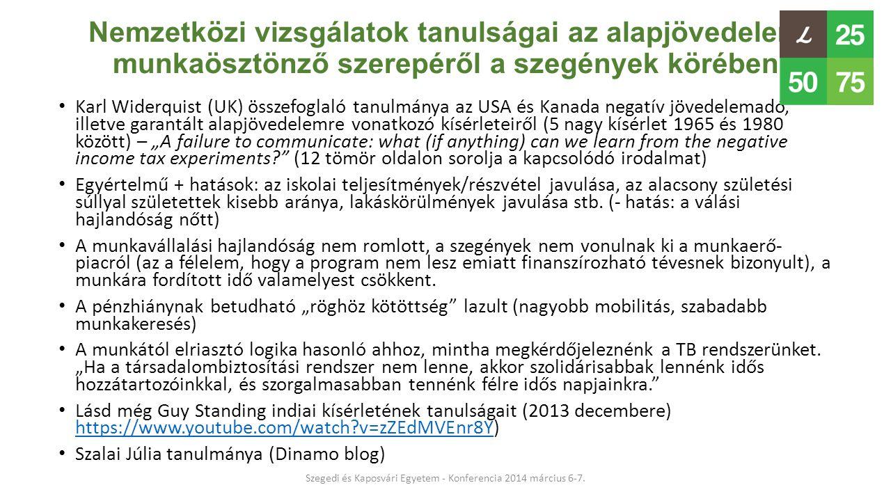 Szegedi és Kaposvári Egyetem - Konferencia 2014 március 6-7.