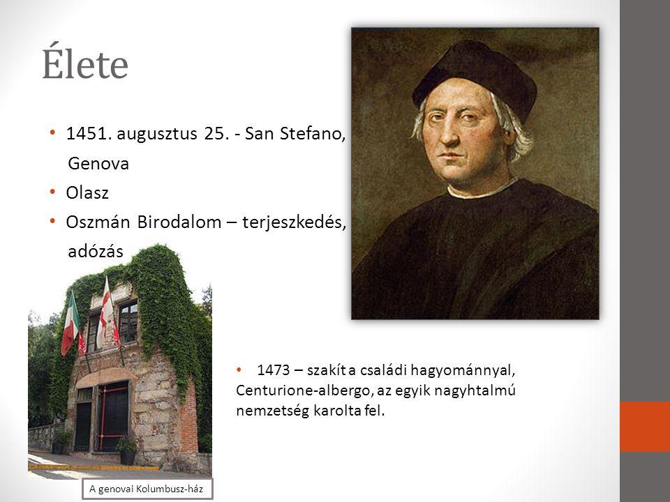 Élete 1451. augusztus 25. - San Stefano, Genova Olasz