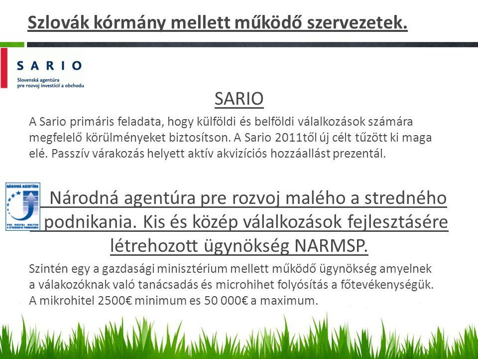 Szlovák kórmány mellett működő szervezetek.