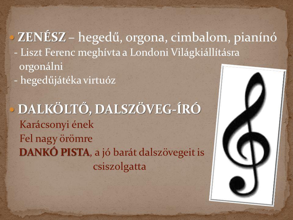 ZENÉSZ – hegedű, orgona, cimbalom, pianínó