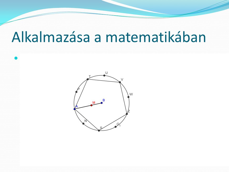 Alkalmazása a matematikában